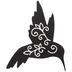 Black Speckled Hummingbird Metal Wall Decor