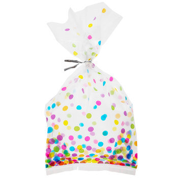 Confetti Cello Treat Bags