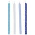 Blues & White Hanukkah Candles