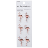 Pink Flamingo Rhinestone Stickers