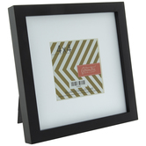 """Black Wood Frame With Mat - 4"""" x 4"""""""
