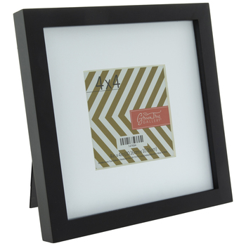 Black Wood Frame With Mat