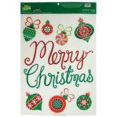 Merry Christmas Window Clings