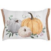 Pumpkin Cluster Striped Pillow