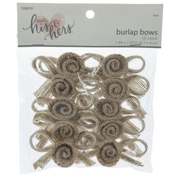 Burlap Rose Bows