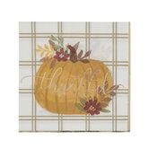 Thankful Pumpkin Foil Napkins - Small