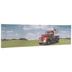 Red Truck With Flag Canvas Wall Decor