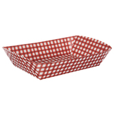 Red Gingham Paper Food Baskets