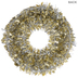 Gold & Silver Tinsel Wreath