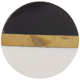 Round Black & White Knob