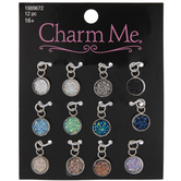 Multi-Color Druzy Bezel Charms