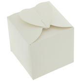 White Heart Top Favor Boxes