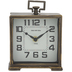 Brass Square Metal Clock