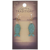 Turquoise Howlite Fish Charms