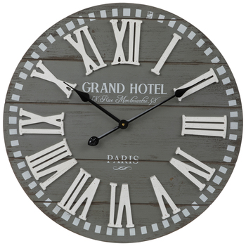 Grand Hotel Wood Wall Clock