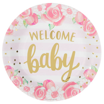 Welcome Baby Paper Plates - Large