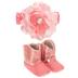 Pink Baby Boots & Headband
