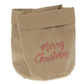 Merry Christmas Kraft Gift Sack
