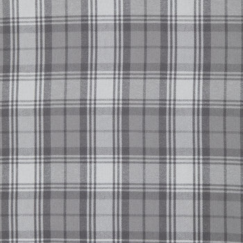 Gray Plaid Flannel Fabric