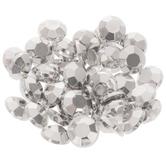 Silver Round Acrylic Rhinestones