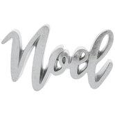 Metallic Silver Noel Decor