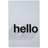 White & Black Hello Canvas Wall Decor