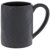 Matte Black Alligator Print Mug