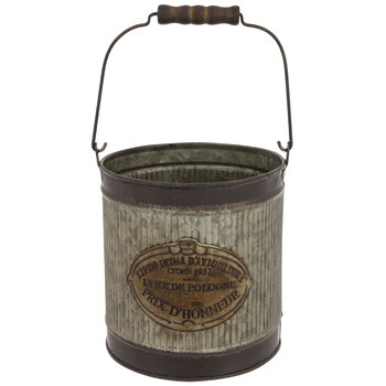 Ribbed Galvanized Metal Bucket