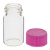 Round Glass Containers With Pink Lids