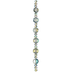 Blue Luster Faceted Disc Glass Bead Strand