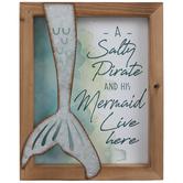 Salty Pirate & His Mermaid Wood Wall Decor
