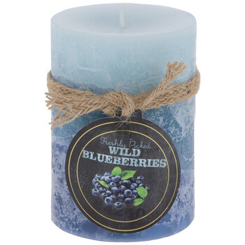 Wild Blueberries Pillar Candle