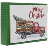 Glitter Truck & Tree Christmas Cards
