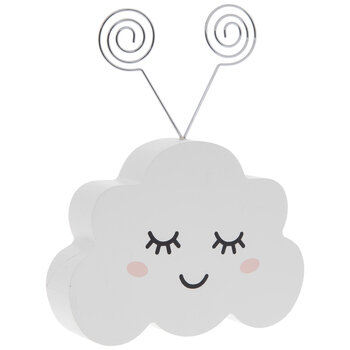 Smiling Cloud Wood Double Photo Clip