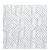 Striped Cubes Wallpaper Vinyl Wall Art