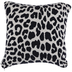 White & Navy Leopard Print Pillow Cover