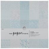 "Blue, White & Silver Foil Paper Pack - 12"" x 12"""