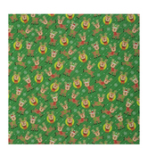 Green Striped Reindeer Gift Wrap