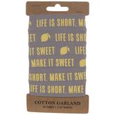 Make It Sweet Lemons Tape Garland