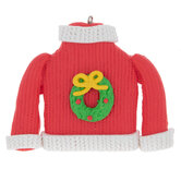 Wreath Ugly Sweater Ornament