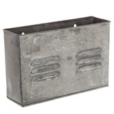 Galvanized Metal Rectangle Wall Container
