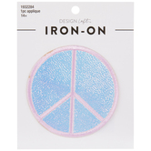 Iridescent Peace Sign Iron-On Applique