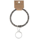 Gray & Black Rhinestone Bangle Key Ring