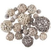 Gray Natural Decorative Spheres