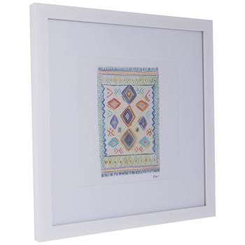 Multi-Color Rug Framed Wall Decor
