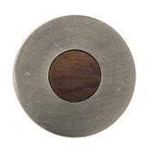 Nickel & Wood Round Knob