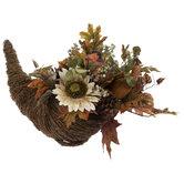 Sunflowers & Pumpkins Cornucopia
