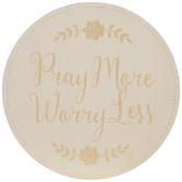 Pray More Wood Wall Decor
