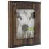 Dark Brown Studded Fence Wood Wall Frame - 8