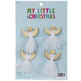 Mini White Fringe Angel Ornaments